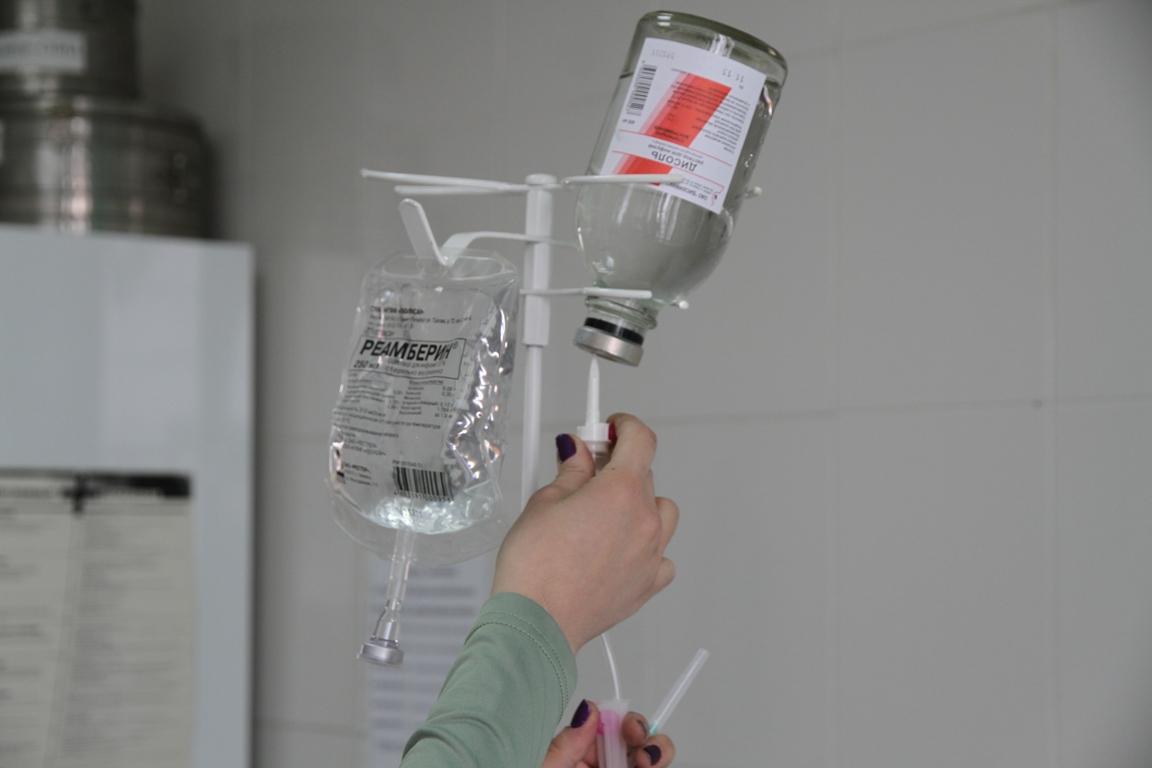 Капельница для очистки крови от токсинов