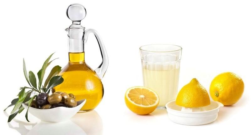 Рецепт оливкового масла с соком лимона